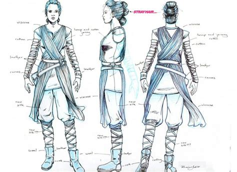rey tri knot hairstyle in star wars episode vii the force