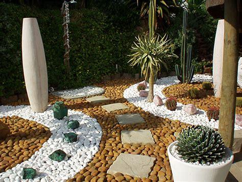 Jardines Desertico En Monterrey Small Pebble Garden Ideas
