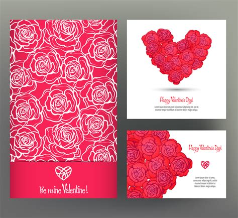 valentines day card template photoshop day card template vector kit 06 vector card