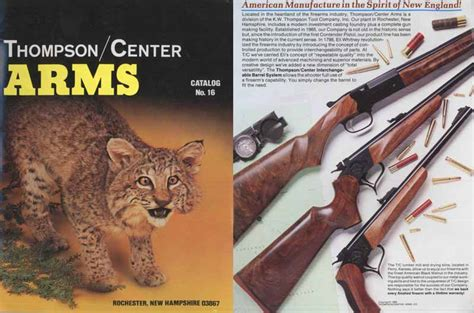 thompson and catalog cornell publications thompson center arms 1989 gun catalog