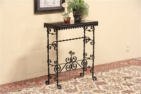 Wrought Iron Foyer Table wrought iron slate or console table