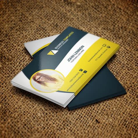 business card a4 template psd corporate business card psd template template for free