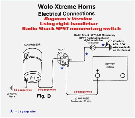 car air horn wiring diagram bestharleylinks info