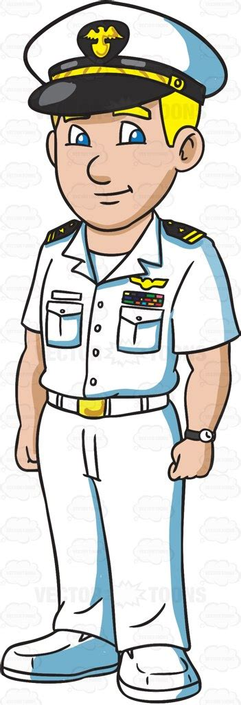 navy boat cartoon cartoon clipart a naval man dressed in a summer white uniform