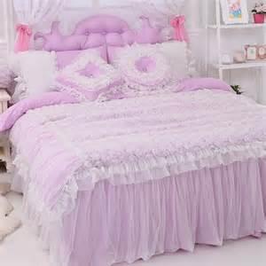 purple ruffle duvet cover purple bedding set