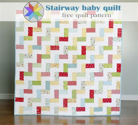 Free Printable Baby Quilt Patterns by A Bright Corner Stairway Baby Quilt A Free Quilt Pattern