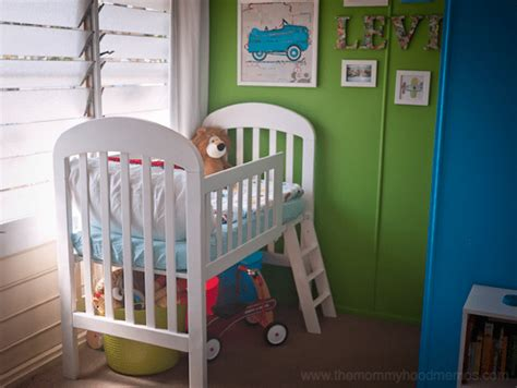 Diy Crib To Toddler Bed Diy On A Dime How To Make A Toddler Loft Bed Out Of An Crib