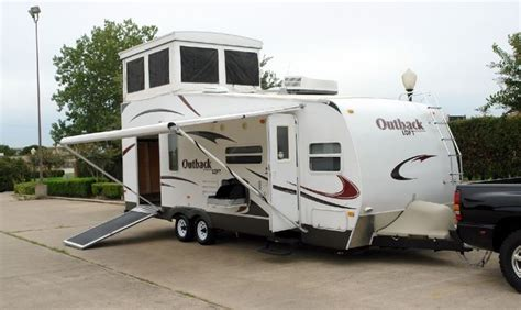 outback toy hauler travel trailer rv sales 2 floorplans 22 best images about cers and tents on pinterest c