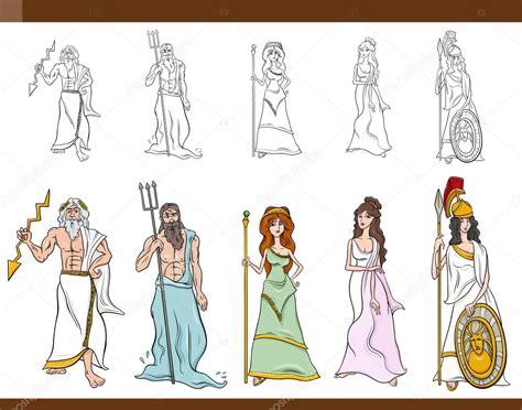 imagenes de los vectores ilustraci 243 n de dibujos animados de dioses griegos vector