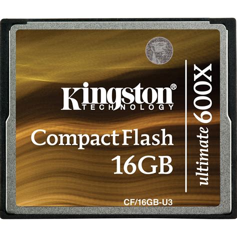 Memory Cf Compact Flash Pro 16 Gb Speed 160 Mbps kingston 16gb compactflash memory card ultimate 600x cf