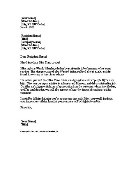 Introduction Letter To Company For New Employee Letter With A Reference