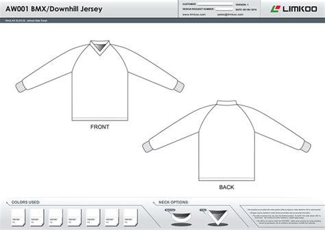 Long Sleeve Bmx Jersey Bmx Jersey Design Template