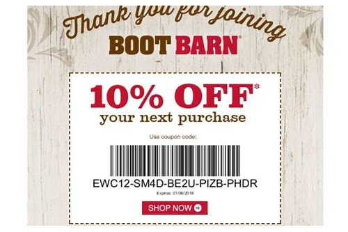 boot barn coupon code 10 off