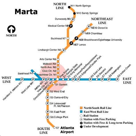 atlanta marta map marta stations atlanta