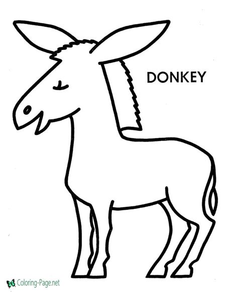 donkey coloring pages preschool preschool coloring pages donkey