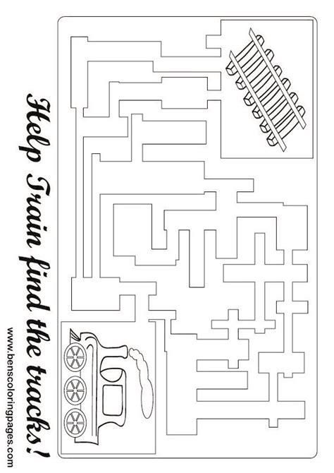 printable train maze train maze games for kids
