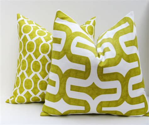 green sofa pillows decorative pillow covers lime green pillow by eastandnest