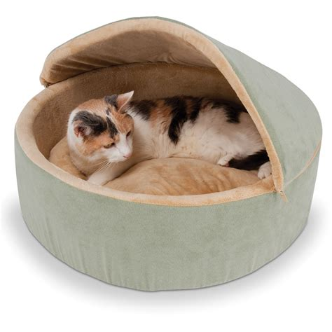 kitten beds the warming cat bed hammacher schlemmer