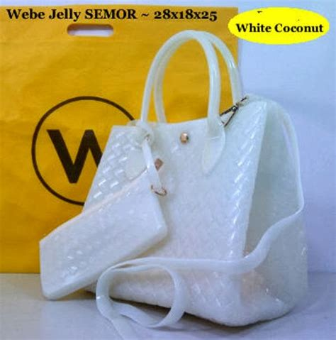 Jelly Chanelly Jelly Bag Hitam jual jual tas tas webe jelly semi original set dompet