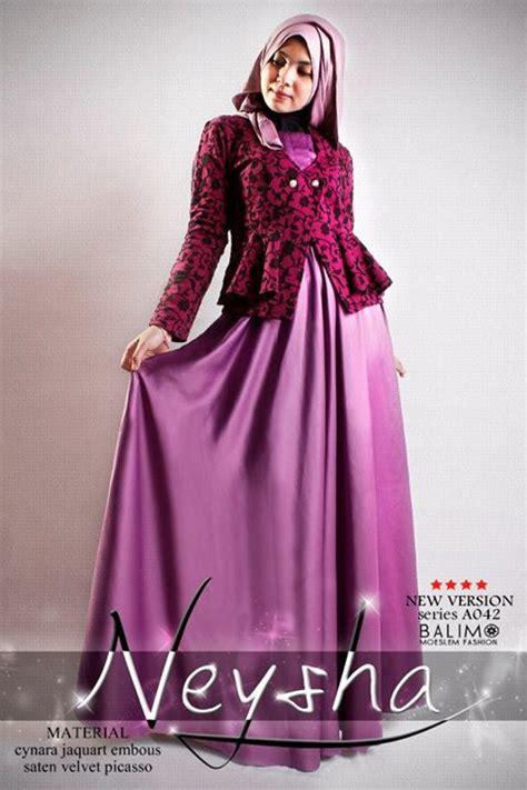 Dres Muslimah Model Ruby Dress Soft Blue Terlaris balimo neysha 5 purple baju muslim gamis modern