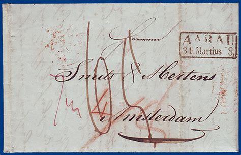 Brief Schweiz österreich Porto schweiz 1848 porto brief aarau nach amsterdam nl m