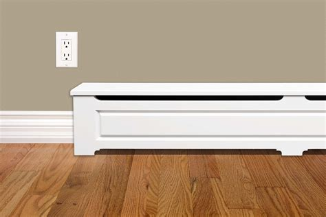craftsman baseboard craftsman style 6 ft wood baseboard heater cover kit in