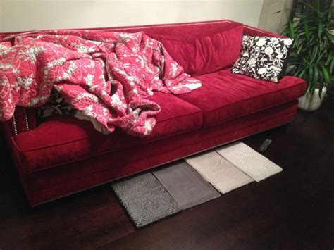color area rug complements  red couch quora