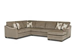 Klaussner Sectional Sofa Klaussner Living Room Heston Sectional E92400 Fab Sect Turner Furniture Company Avon Park