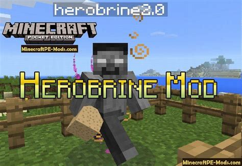 mod in minecraft pe herobrine mod for minecraft pe 1 2 11 1 2 10 1 2 9 1 2