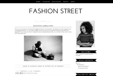blogger template fashion street themes on creative market