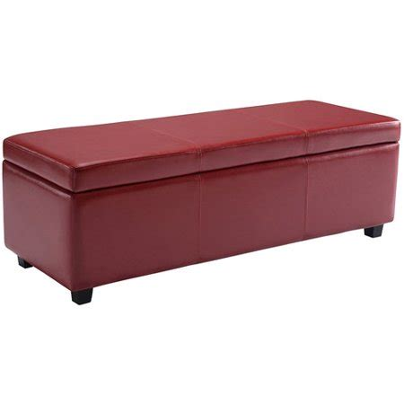 storage ottoman walmart simpli home avalon large storage ottoman bench walmart