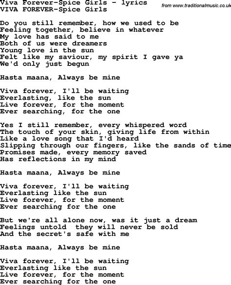 truly madly deeply testo song lyrics for viva forever spice