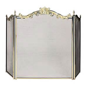 decorative metal fireplace screens blue rhino s 9668 brass decorative fireplace screen atg
