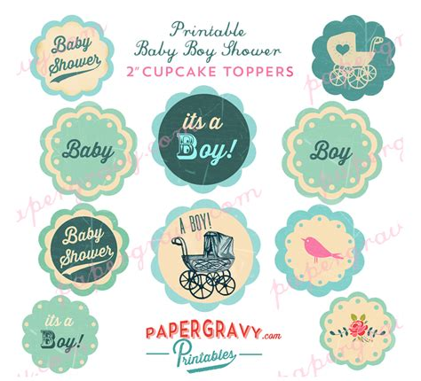Baby Shower Card Cupcake Template by Baby Shower B Lovely Events