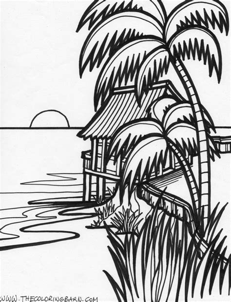 coloring pages tropical island coloring pages tropical coloring home
