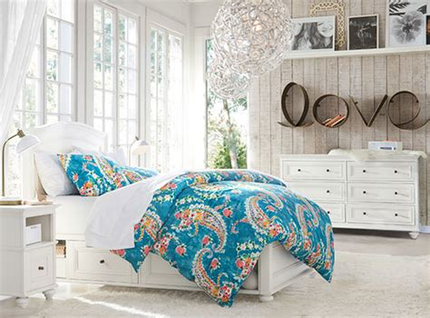 blossoms bedroom chelsea storage paisley blossoms bedroom pbteen