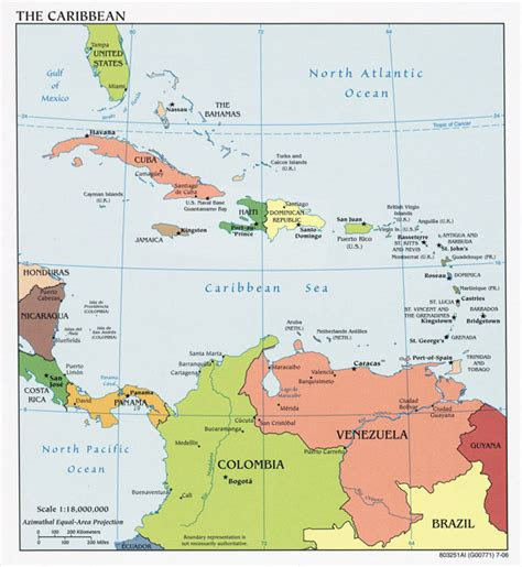 map of central america with major cities large detailed political map of the caribbean with