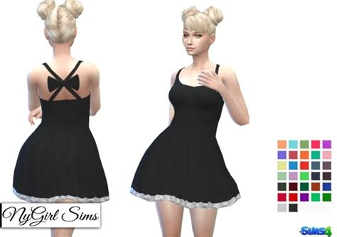 Open Cross Back Dress With Bow At Nygirl Sims 187 Sims 4 Updates | open cross back dress with bow at nygirl sims 187 sims 4 updates