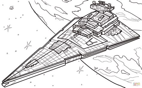 star wars battleship coloring page star destroyer coloring online