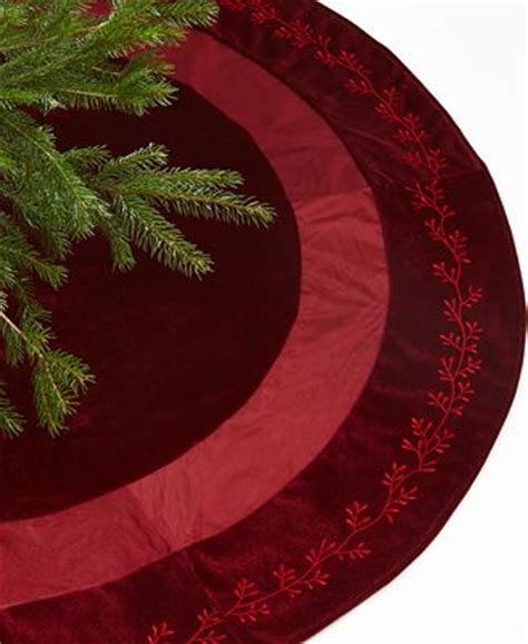 holiday lane christmas tree skirt burgundy velvet