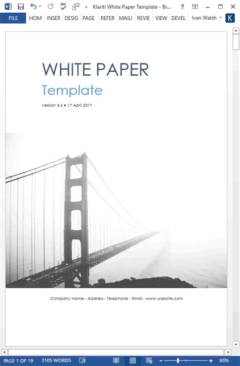 White Papers Ms Word Templates Free Tutorials Microsoft Word White Paper Template