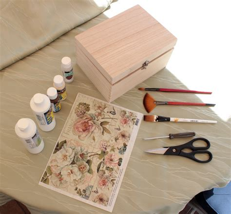 How To Decoupage A Box - diy project shabby chic decoupage storage box decor advisor