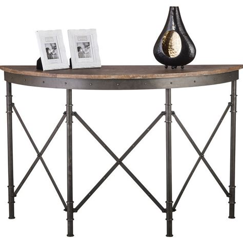 Rustic Hallway Table Antique Half Table W Rustic Wood Top Buy Console Tables