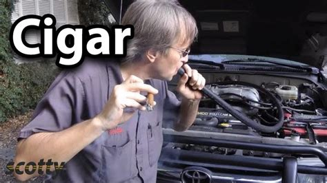 finding engine vacuum leaks   cigar youtube