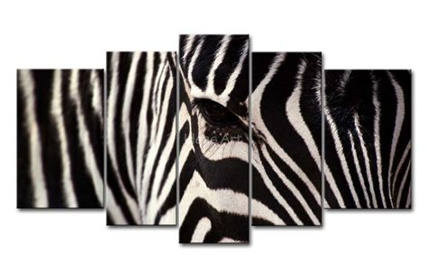 oil paintings printing for sale zebra canvas prints modern 5 piece black and white wall art painting zebra face