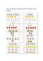 english worksheets equal amp not equal