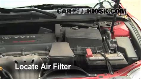 small engine maintenance and repair 2008 toyota camry solara lane departure warning air filter how to 2007 2011 toyota camry 2008 toyota camry le 2 4l 4 cyl