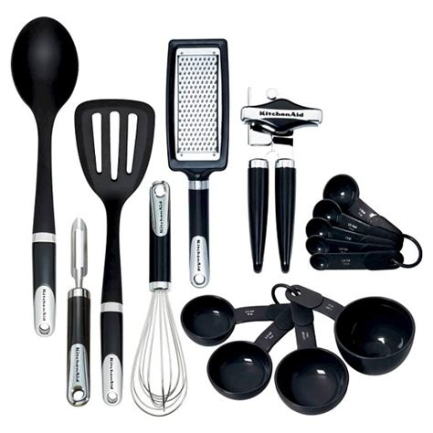kitchenaid 174 tools and gadgets 15pc in set black target - Kitchen Tools Gadgets