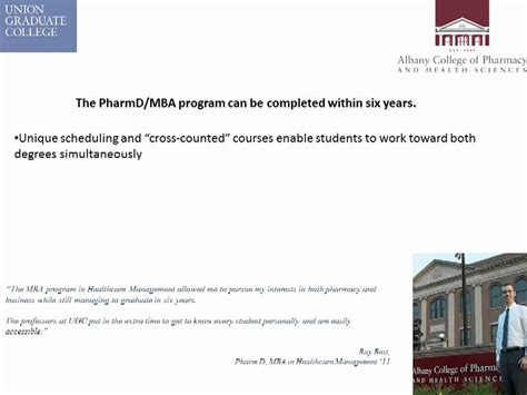 What Is Pharmd Mba by Pharmd Mba In Healthcare Management Joint Program
