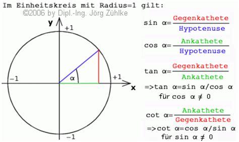 wann wendet sinus cosinus und tangens an cos berechnen b 252 rozubeh 246 r